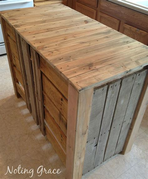 making a kitchen island hometalk how to make a pallet kitchen island for less