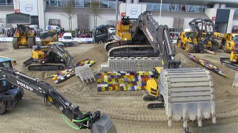 volvo construction equipment display bauma  part  messe muenchen germany youtube