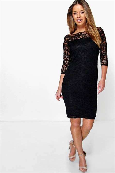 boohoo womens lace bardot midi dress ebay