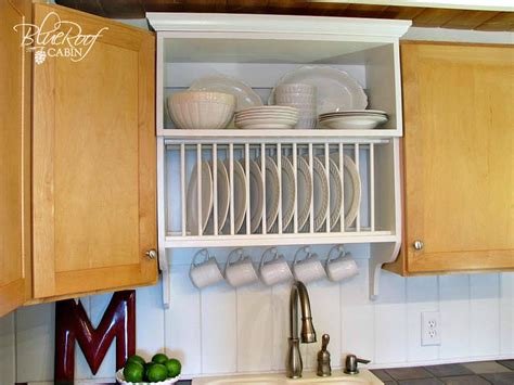 plate rack kitchen cabinet remodelaholic upgrade cabinets by building a custom