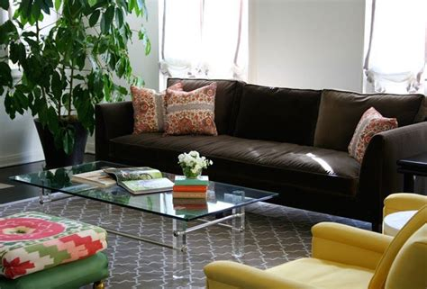 Brown Couch Grey Rug Living Room Pinterest Dark Brown Sofa Decorating Living Room Ideas
