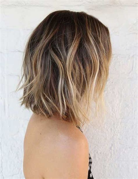 balavage haircolor for medium length blonde hair 15 balayage bob haircuts bob hairstyles 2017 short