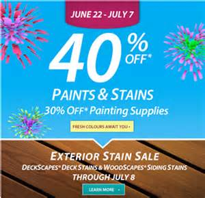sherwin williams sale on paints and stains 40 off