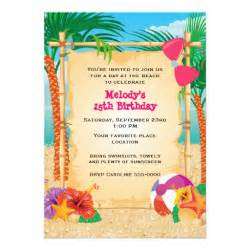 tropical 5x7 paper invitation card zazzle