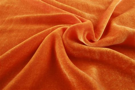 Upholstery Suede Buy Electric Orange Velvet Silk Fabric Sewing Fabrics
