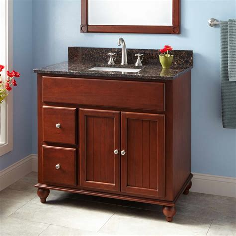 cherry vanity bathroom 48 quot trevett vanity for undermount sink cherry bathroom
