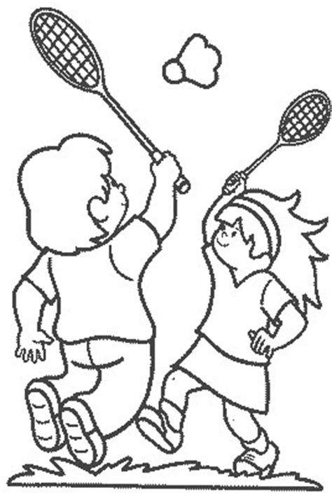 badminton coloring pages to print coloring pages