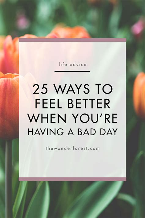 Ways To Feel Cool On A Day by 25 Ways To Feel Better When You Re A Bad Day