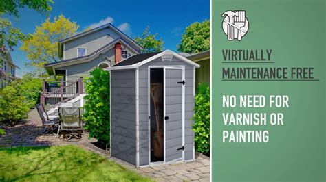 Keter Manor 4x3 Shed by Keter Manor 4x3 Outdoor Garden Storage Shed