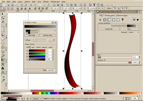 inkscape tutorial shading inkscape tutorial creating a simple ribbon