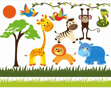 safari clipart baby safari animals clipart best