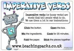 imperative verbs lesson observation ideas