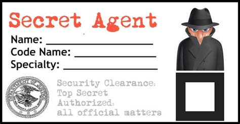 Detective Identification Card Template by A Birthday Coming Up I Ve Got An Idea For