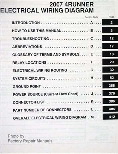 2007 toyota 4runner electrical wiring diagrams original factory manual factory repair manuals