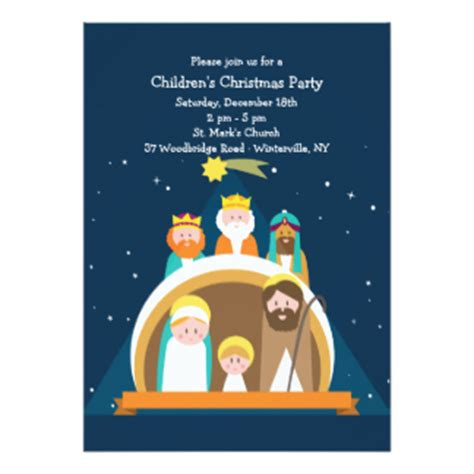 Christmas Nativity Invitations Announcements Zazzle Nativity Flyer Template