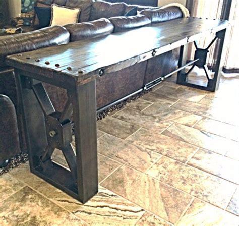 custom sofa table made drexel sofa table by ironclad vintage industrial