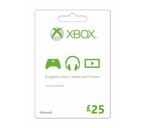 Free Xbox Gift Cards Uk - buy microsoft xbox live gift card 163 25 free delivery currys