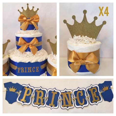 prince theme baby shower prince baby shower package in royal blue and gold