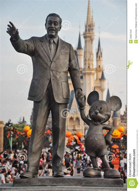 walt disney and mickey mouse editorial photography image