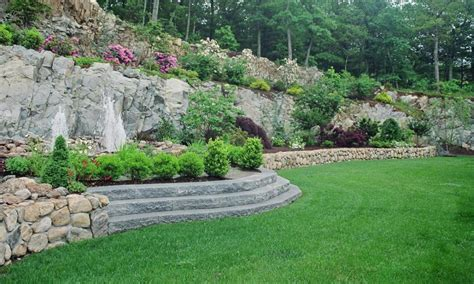 landscaping sloped backyard landscaping ideas on a slope www imgkid com the image