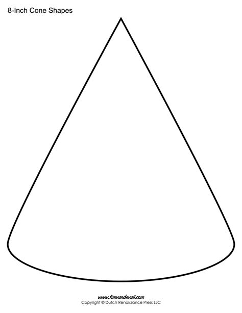 template to make a cone cone templates free printable cone shape pdfs