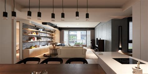 Island For Kitchen Ideas dark apartment interior design for a young family