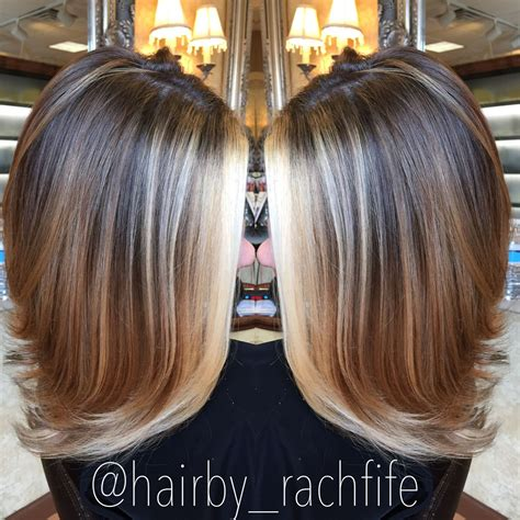 pics of small highlights to frame face bob pics bright blonde face framing balayage highlights hair by