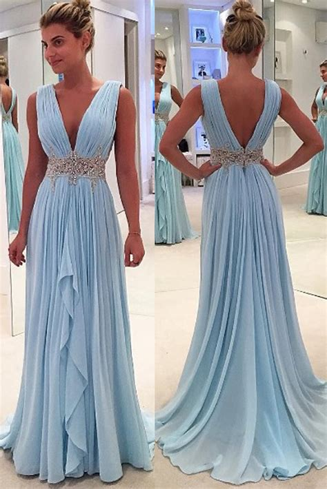 light blue formal dresses sales light blue prom dresses a line v neck prom