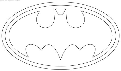 coloring pages of the batman symbol batman logo coloring page