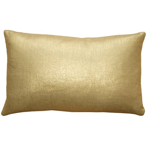 Gold Pillow tuscany linen gold metallic 12x20 throw pillows