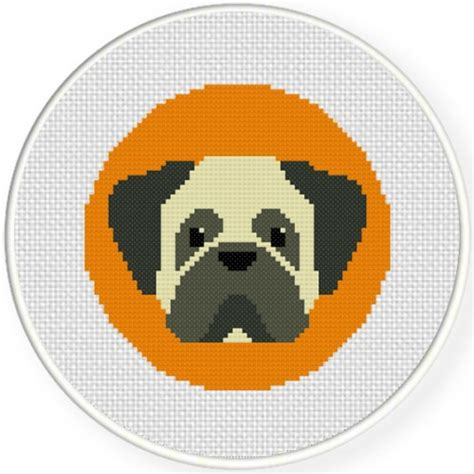 pug cross stitch patterns free charts club members only pug portrait cross stitch pattern daily cross stitch