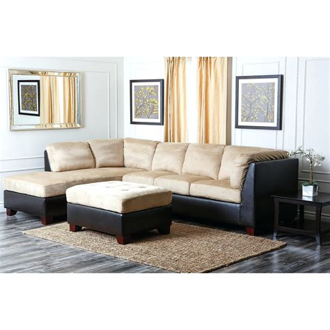 Ottoman For Sectional 12 Ideas Of Abbyson Living Brown Sectional Sofa And Ottoman