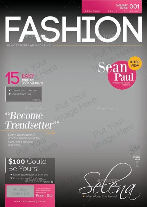 magazine cover layout templates magazine cover templates pictures to pin on
