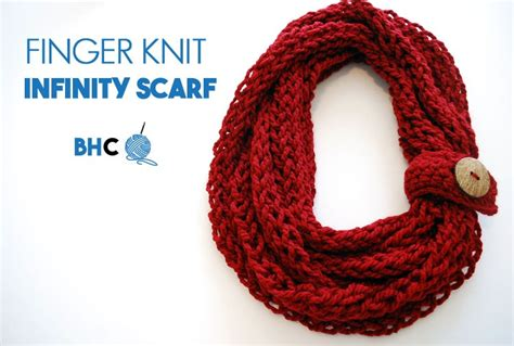 how to make a finger knit scarf wider finger knit infinity scarf b hooked crochet
