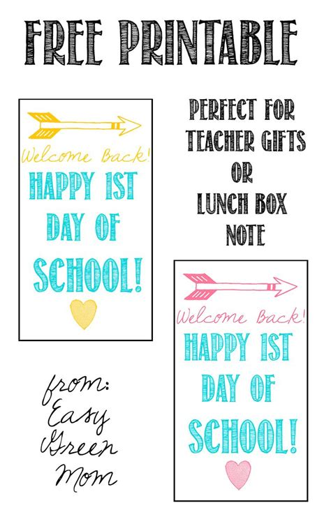 printable welcome tags welcome back first day of school gift tag free printable