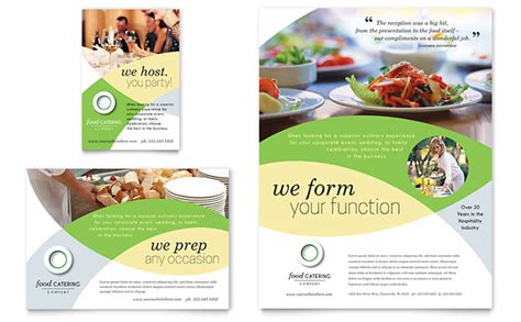 catering brochure templates food catering flyer ad template design