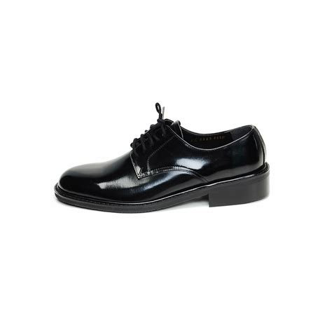 navy dress shoes navy oxfrod black real leather lace up dress shoes size