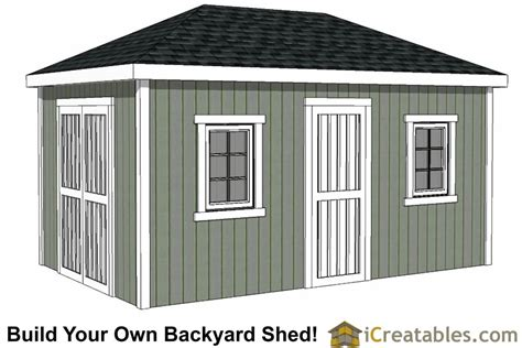 10x16 Shed Plans Free by 10x16 Hip Roof Shed Plans