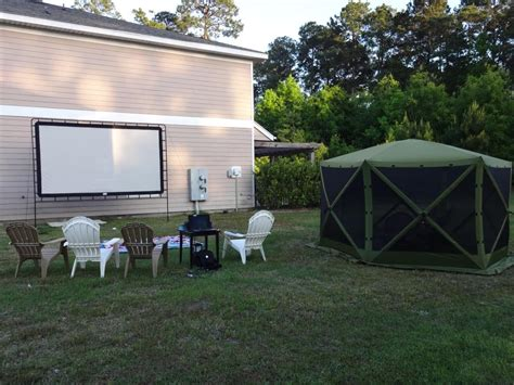 backyard big screen c chef s outdoor big screen makes movie night a hit