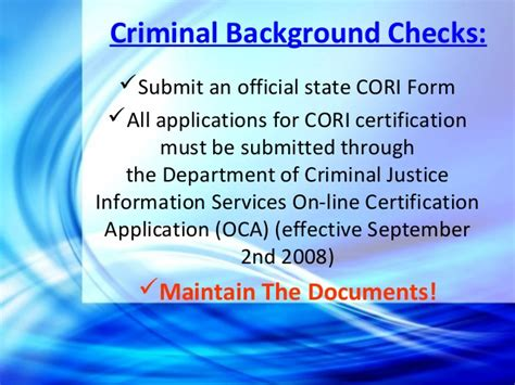 Cori Background Check Massachusetts Aspects Of Avoiding And Defending Negligent Hiring Richard Gar