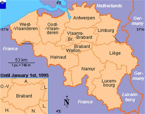 belgium provinces map clickable map of belgium provinces