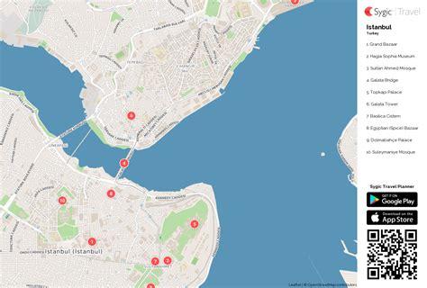 printable map istanbul istanbul printable tourist map sygic travel