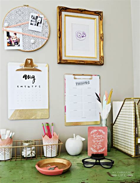 pink stinx home organization center 10 ways to organize a pretty home office cottonwood lane