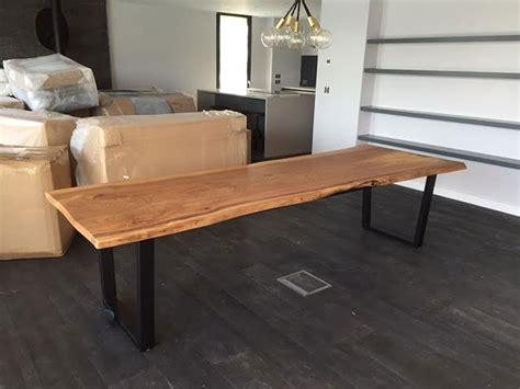 large elm bespoke handmade waney edge slab dining table quercus furniture