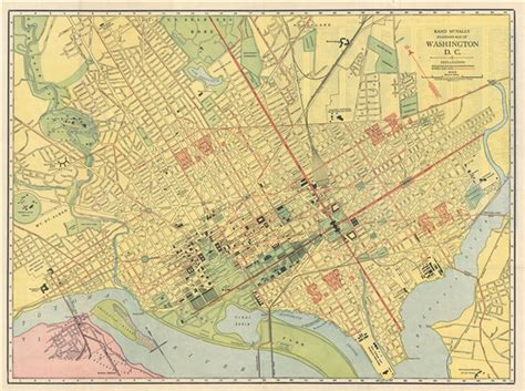 standard map rand mcnally standard map of washington d c geographicus