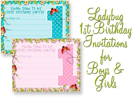 invitation templates for 1st birthday printable kits
