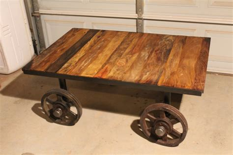 car coffee table railroad car look coffee table ashevillewood