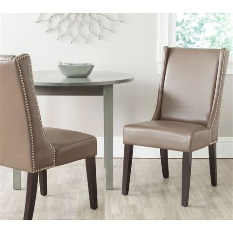 Dining Room Leather Side Chairs Safavieh Sher Clay Bicast Leather Side Chair Set Of 2