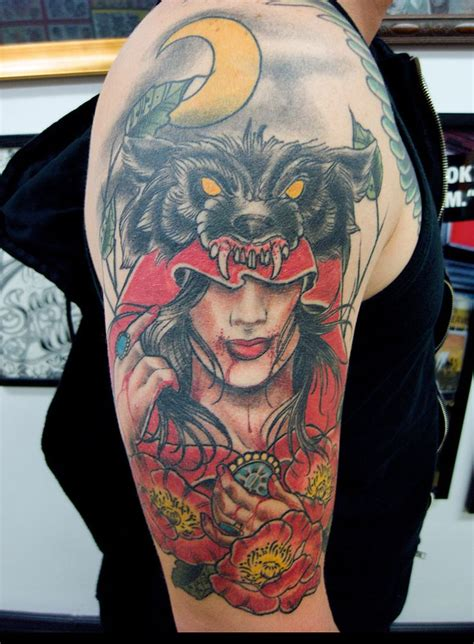 red riding hood tattoo cool
