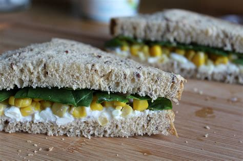 Cottage Cheese Sandwich Fillings by Cottage Cheese Sweetcorn Spinach Sandwich